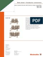 Linha Z - Conexão a Mola - Linha de Conectores de Passagem ZDU Compacta