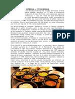 Sintesis de La Cocina Peruana