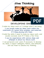 creative thinking - developing ideas
