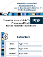 Exposición vivencial de la Visita In situ Promoción al Nivel II Sistema Nacional de Bachillerato