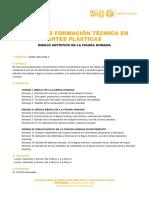 CURSOS DE FORMACIÓN TÉCNICA EN ARTES PLÁSTICAS