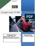 Rapport Des TPs MEF