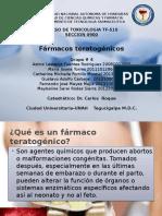 Farmacos teratogenicos Grupo 4 seccion 9.pptx