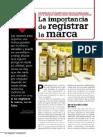 Artículo Revista Olimerca sobre la importancia del registro de la marca