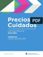 Precios Ciudados para la zona Norte del País