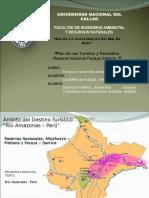 Plan de Uso Turístico y Recreativo Reserva Nacional Pacaya Samiria