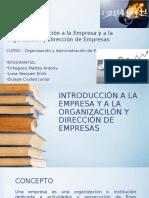 Introducción a La Empresa y a La Organizacilón 1