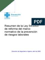 SGS0504006 Resumen Ley 54-2003 Reforma Marco Normativo