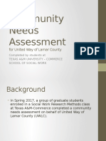 Community Needs Assessment TAMUC Powerpoint