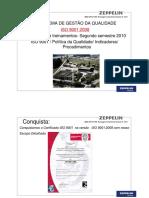JMBZ QPR 0173R0 Reciclagem Treinamento ISO 9001 2008 Politica Indicadores Procedimentos ZEPPELIN SYSTEMS treinamento