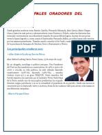 Principales Oradores Del Perú
