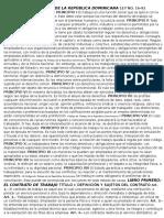 Código de Trabajo de La República Dominicana Ley No