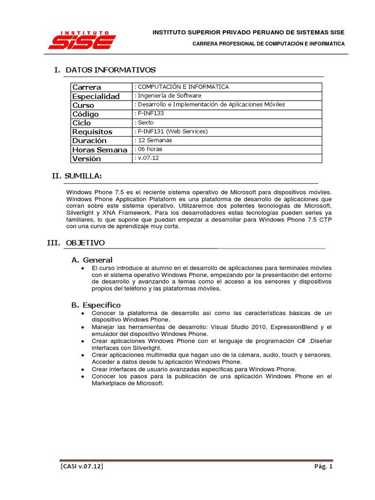 Atractivo Desarrollador De Aplicaciones Currículum Objetivo ...