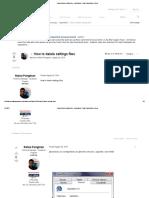 How to Delete Settings Files - HyperMesh - Altair HyperWorks Forum