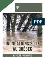 INONDATIONS 2017 AU QUÉBEC – ASPECTS JURIDIQUES