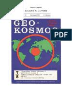 GeoKosmos Heft 7/8 1963 Hohlwelttheorie, Text, kein Scan! 50 S.