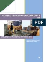 MODELO PRIMARIO EXPORTADOR PERUANO