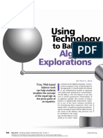 kurz - using technology to balance algebraic explorations