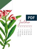 9 - Planner 2017 - Casinha Arrumada - Mês Julho