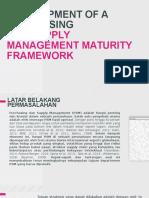 Development of a Purchasing and Supply Management Maturity Framework