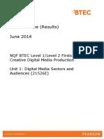 2014 May Marks Scheme