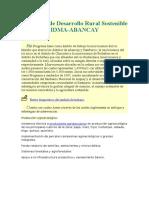 Programa de Desarrollo Rural Sostenible IDMA