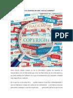 Qué son los derechos de autor