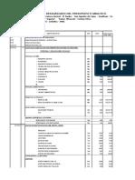Modelo Presupuesto Analitico