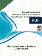 Curso Diseño de Fundaciones Metodologia de Calculo