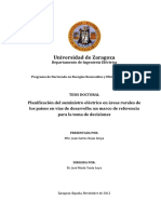 Planificación del suministro eléctrico en áreas rurales de los países en vías de desarrollo