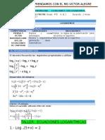 Sesion de Ecuaciones Con Logartimos