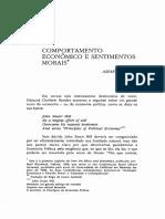 02 - Sen - Comportamento Econômico e Sentimentos Morais