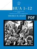 [Thomas B. Dozeman] Joshua 1-12 a New Translation