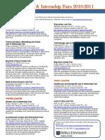 DePaul Job and Internship Fairs 2010-2011