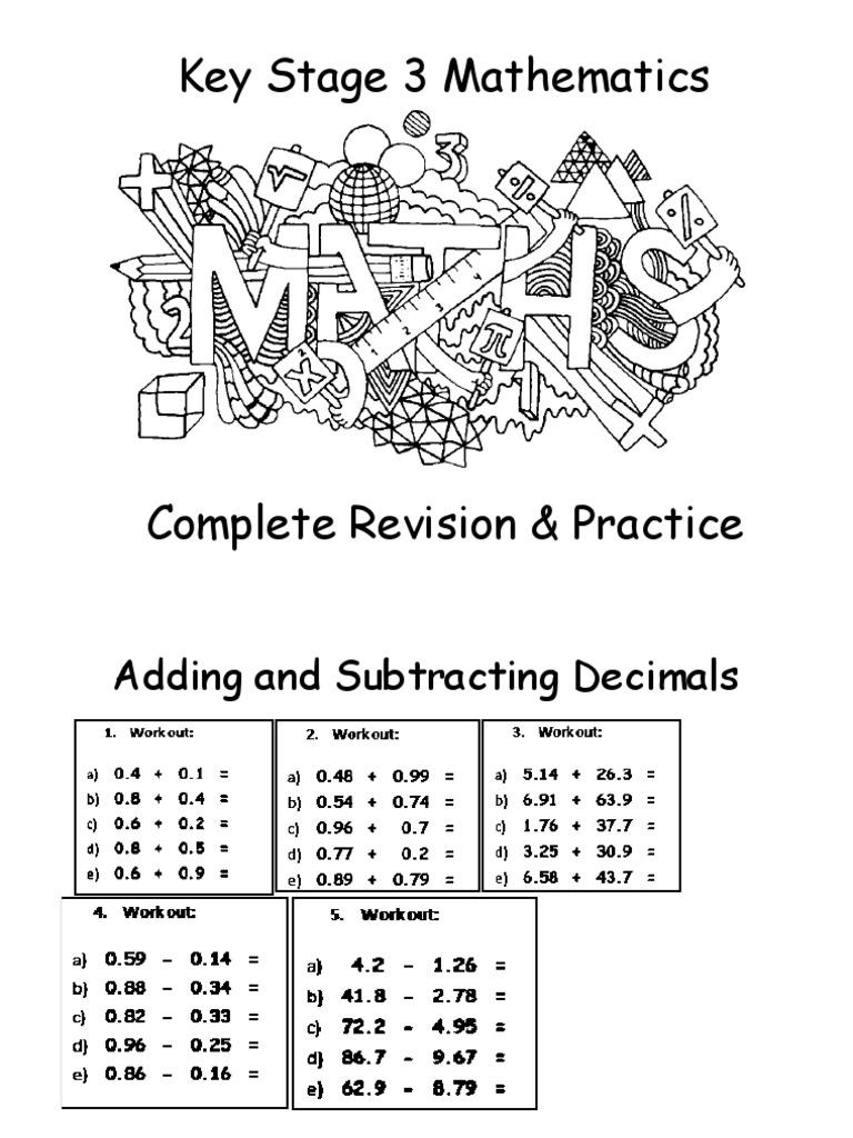 KS3 Maths Complete Revision Practice Worksheets ...