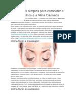 - Presbiopia,Estratégias Combater a Dor Nos Olhos e a Vista Cansada