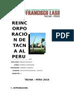Reincorporacion de Tacna Al Peru - Interculturalidad