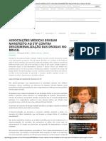 Associações Médicas Enviam Manifesto Ao STF Contra Descriminalização Das Drogas No Brasil _ Contra as Drogas