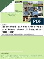 Los Principales Cambios Institucionales en El Sistema Alimentario Venezolano