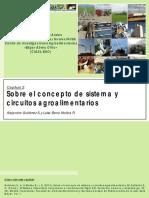 Sobre El Concepto de Sistema y Circuitos Agroalimentarios