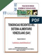 Tendencias Recientes Del Sistema Alimentario Venezolano