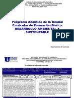 Desarrollo Ambiental y Sustentable Version 5-1