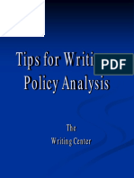 Writing a Policy Analysis (2)