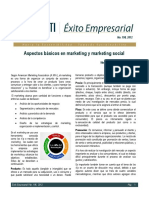 Aspectos Básicos en Marketing y Marketing Social