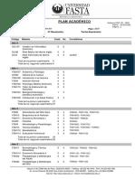Plan de Estudios Licenciatura en Nutrición FASTA