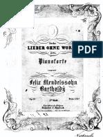 Mendelssohn, F, Lieder Ohne Worte, Op.19b