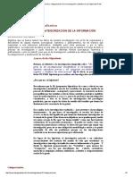 Reducción y Categorización de La Investigación Cualitativa en La Página Del Profe
