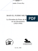 Sommaire Bajo El Fuero Militar Leandro Alvarez Rey