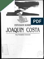 Eloy Fernandez Clemente Estudios Sobre Joaquin Costa