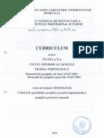 Curriculum Tehnic Electric 10